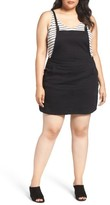 City Chic Plus Size Women's Denim Pinafore Dress