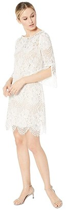 Vince Camuto Lace Shift w/ 3/4 Sleeve (Ivory) Women's Dress