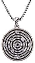 David Yurman Diamond Labyrinth Disc Pendant Necklace