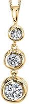 FINE JEWELRY Sirena 1/4 CT. T.W. Diamond 14K Yellow Gold Pendant Necklace