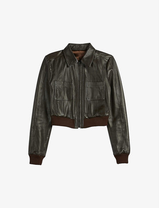 Ted Baker Octeri leather bomber jacket