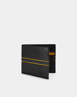 Ted Baker TRAVE Striped leather bifold wallet