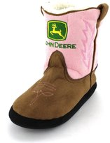 John Deere Girls Pink Cowboy Boot Slippers