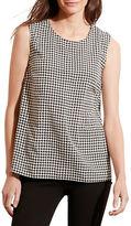 Lauren Ralph Lauren Houndstooth Printed Sleeveless Top