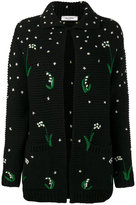 Valentino floral embroidered cardigan - women - Virgin Wool - S