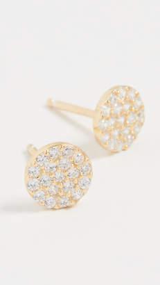 Shashi Pave Disc Earrings