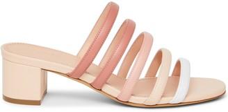 Mansur Gavriel Lamb Multi Strap Sandal - Pink Multi