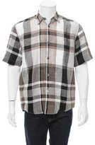Our Legacy Plaid Linen Shirt