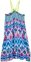 Little Mass Barbados Blue Smocked Dress (Toddler & Little Girls)