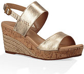 UGG Elena Gold Wedge Sandals