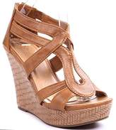 JJF Shoes Lindy-1 Faux Leather Gladiator Strappy Dress Platform High Wedge Sandals-8