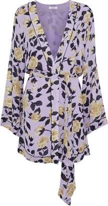 Ganni Carlton Floral-print Georgette Jacket