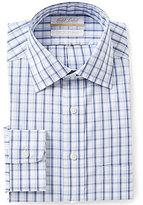 Roundtree & Yorke Gold Label Non-Iron Regular Full-Fit Spread-Collar Check Dress Shirt