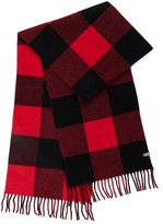 Mackage Langevin Unisex Chequer Patterned Scarf In Red