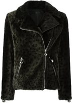 Drome cheetah-print jacket - women - Acetate/Viscose/Lamb Fur/Lamb Skin - S