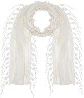 M&Co Floral fringe lace scarf