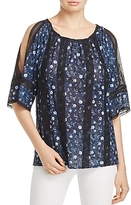 T Tahari Cambria Cold-Shoulder Blouse