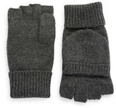 Black Brown 1826 Cashmere Fingerless Mittens