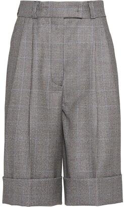 Miu Miu Houndstooth Check Shorts