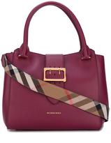 Burberry buckled closure tote