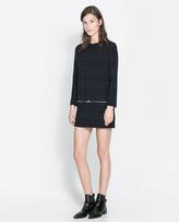 Zara Checked Dress With Zips