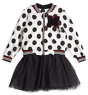 Pippa Pastourelle by & Julie Baby's & Little Girl's Disney x Pastourelle By & Julie 2-Piece Polka Dot Bomber Jacket