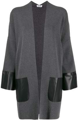 Liu Jo oversized contrast panel cardigan
