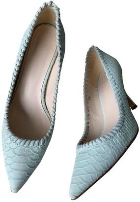 Tara Jarmon Turquoise Leather Heels