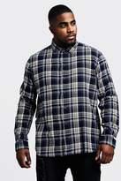 Big & Tall Regular Fit Long Sleeve Check Shirt