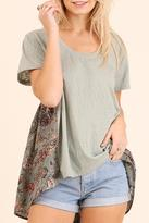 Umgee USA Floral-Back Top