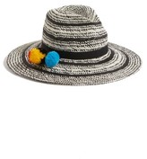 Hinge Women's Two Tone Panama Hat - Black