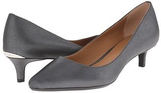 Calvin Klein Gabrianna Pump (Navy Leather) Women's 1-2 inch heel Shoes