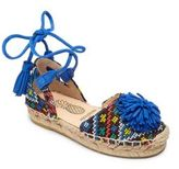 Aquazzura Mini Baby's, Toddler's & Kid's Mini Sunshine Woven Leather Ankle-Wrap Epadrilles