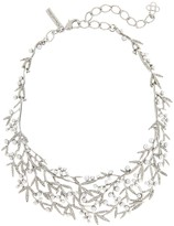 Oscar de la Renta Pearl Bamboo Leaf Necklace