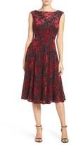 Betsey Johnson Women's Burnout Velvet Midi Dress