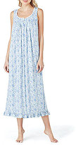 Eileen West Lace-Trimmed Floral Nightgown