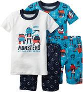 Carter's 4-pc. Ivory Monster Pajama Set - Baby Boys newborn-24m