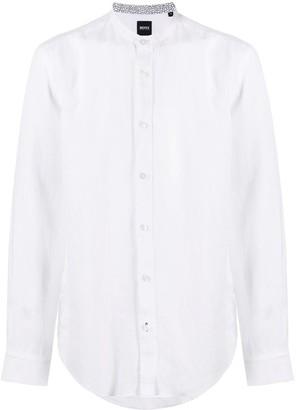 HUGO BOSS Mandarin Collar Shirt