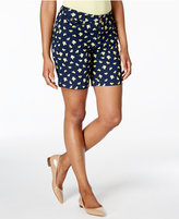 Charter Club Petite Lemon-Print Shorts, Only at Macy's