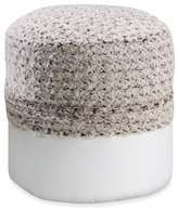 Bed Bath & Beyond Swirl Fur Cream/Chocolate Footstool Cover