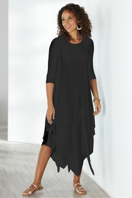 Soft Surroundings Alexandra 3/4 Sleeve Dress