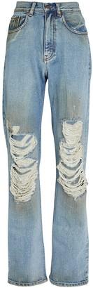 retrofete Chris Distressed Straight-Leg Jeans