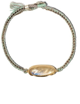 Brooke Gregson 14kt yellow gold, silver and silk Icicle moonstone bracelet