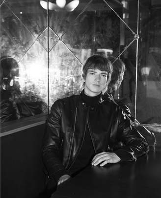 The Kooples Black leather biker jacket with biker collar