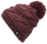 The North Face Women's Triple Cable Pom Beanie - Red