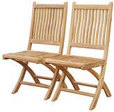 Regal Teak Teak Folding Chairs - Set of 2