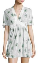 Milly Bari Palm Printed Dress