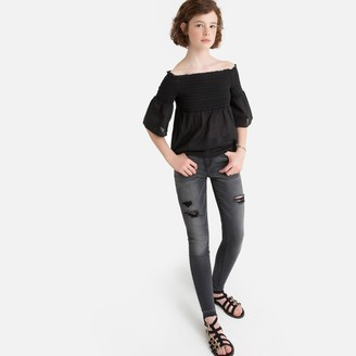 La Redoute Collections Ripped Skinny Jeans, 10-16 Years