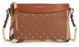 Burberry Peyton Studded Leather Crossbody Bag - Brown