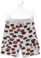 Stella McCartney speech balloon print shorts - kids - Cotton - 2 yrs
